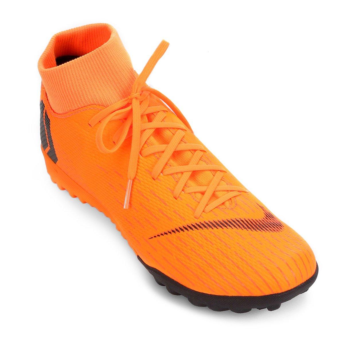 23e9ebb05103c Chuteira Society Nike Mercurial Superfly 6 Academy - Laranja e Preto -  Compre Agora