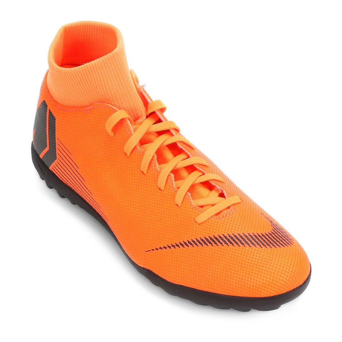 513c5b98bbc2b Chuteira Society Nike Mercurial Superfly 6 Club - Laranja e Preto ...
