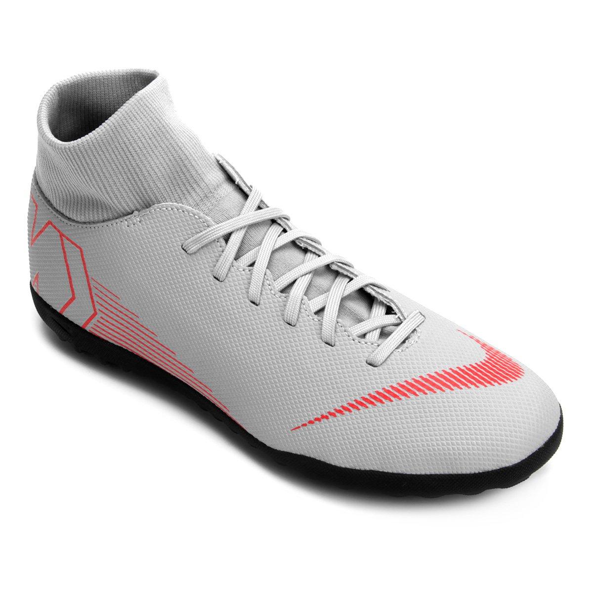 8256ff4d25 Chuteira Society Nike Mercurial Superfly 6 Club - Cinza - Compre ...