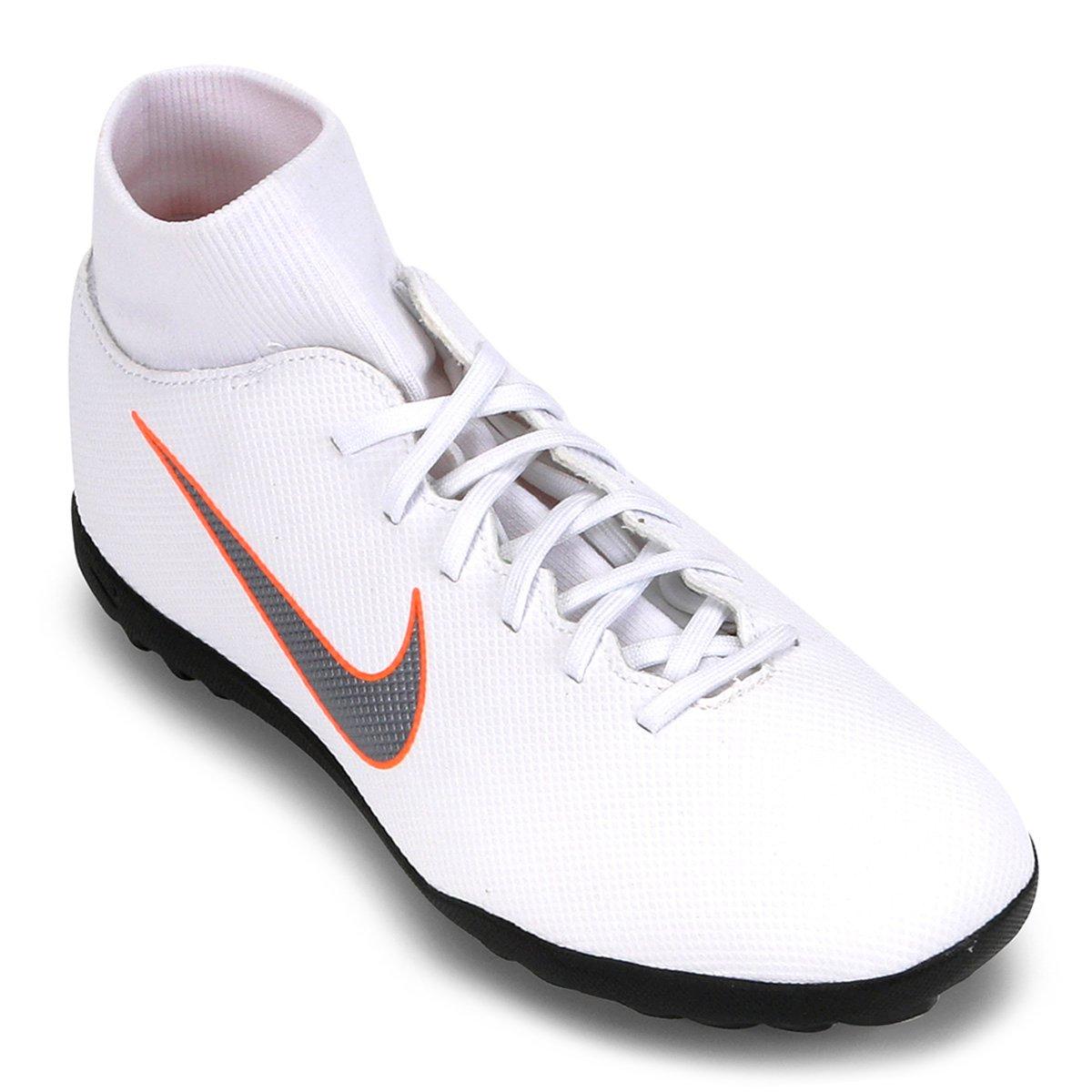 7c38d38582 Chuteira Society Nike Mercurial Superfly 6 Club - Branco e Cinza ...
