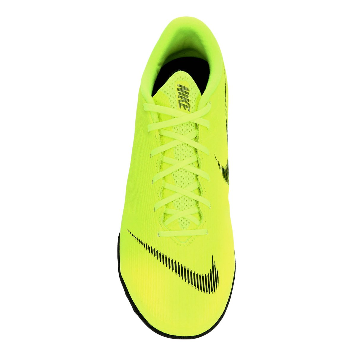 Chuteira Society Nike Mercurial Vapor 12 Academy - Amarelo e Preto ... 424fa57abe99d
