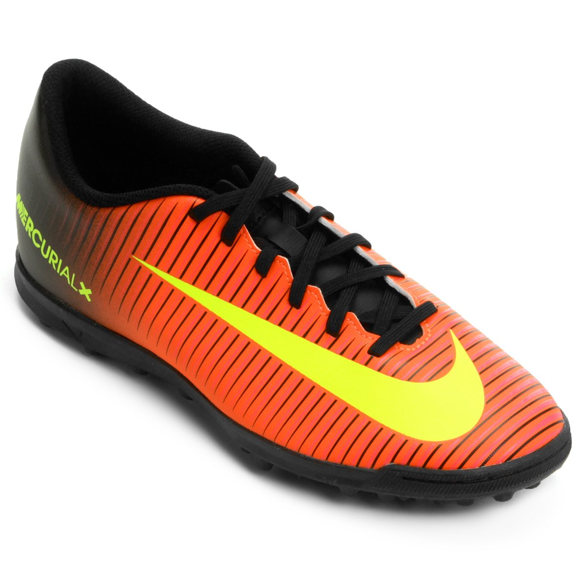Chuteira Society Nike Mercurial Vortex 3 TF Masculina - Laranja e ... 2bff6ed1772cd