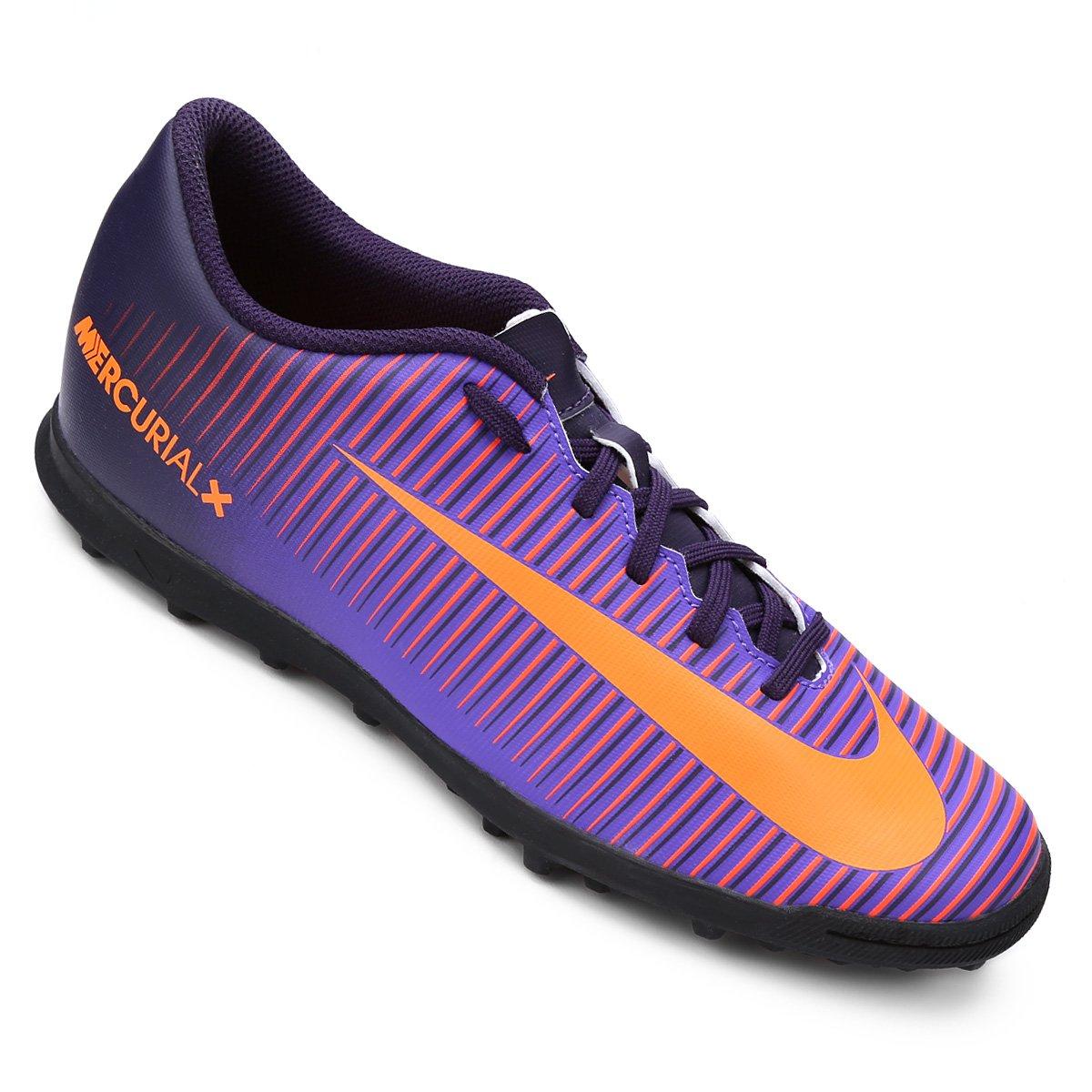 Chuteira Society Nike Mercurial Vortex 3 TF Masculina - Roxo ... 03c61f1a42f61