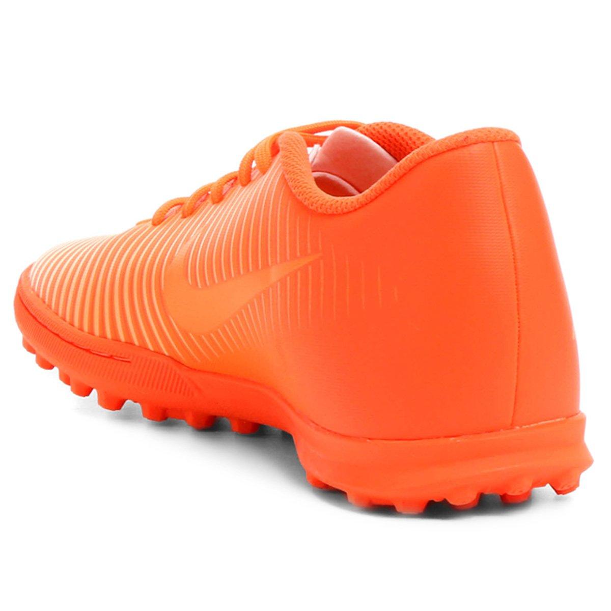 Chuteira Society Nike Mercurial Vortex 3 TF - Laranja - Compre Agora ... 51d68430d07af