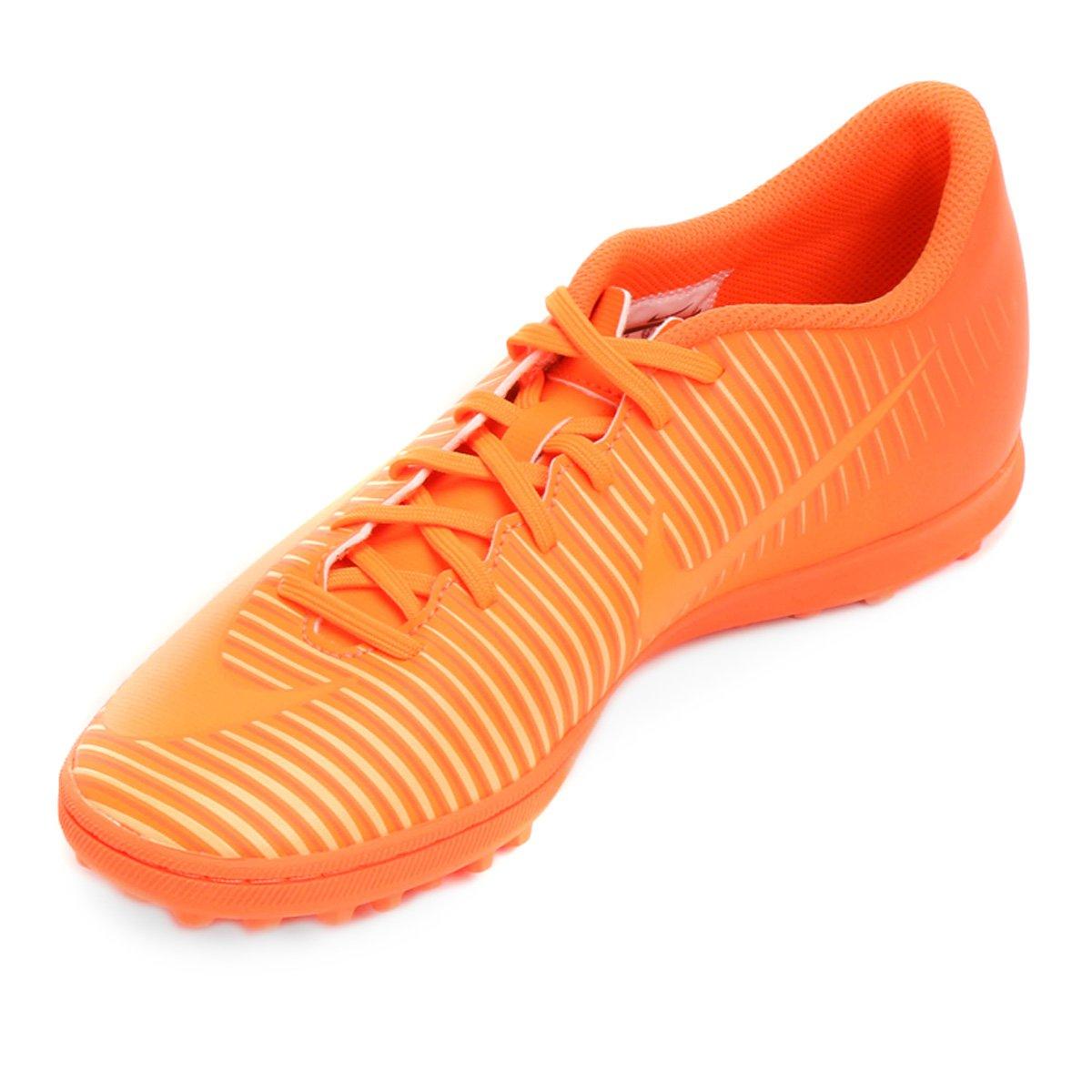 Chuteira Society Nike Mercurial Vortex 3 TF - Laranja - Compre Agora ... cf95b482e1583
