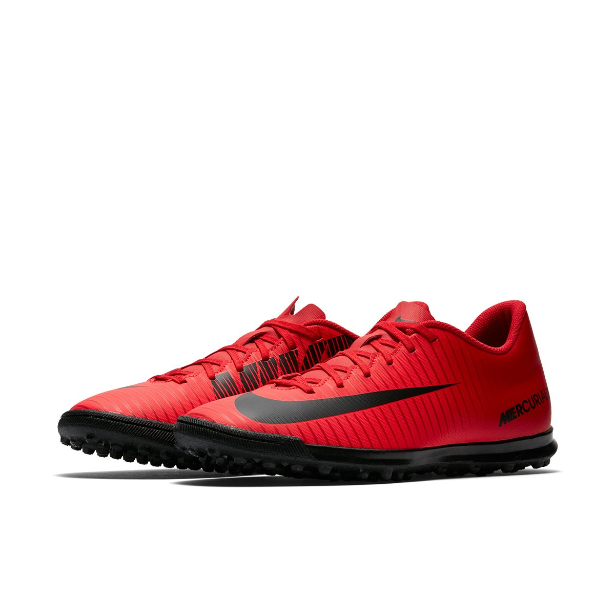 Chuteira Society Nike Mercurial Vortex 3 TF - Vermelho e Preto ... 44da92b9a3f60