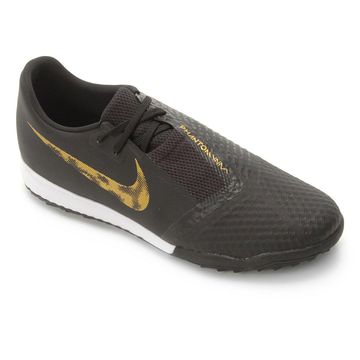 11e5b18eb344d Chuteira Society Nike Phantom Venom Academy TF - Preto e Dourado - Compre  Agora