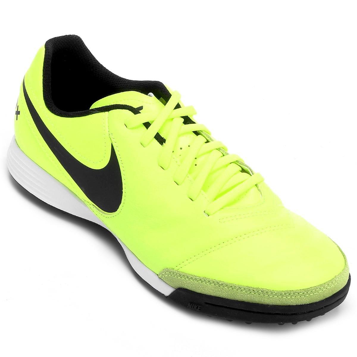 8487d82485361 Chuteira Society Nike Tiempo Genio 2 Leather TF - Verde claro - Compre  Agora