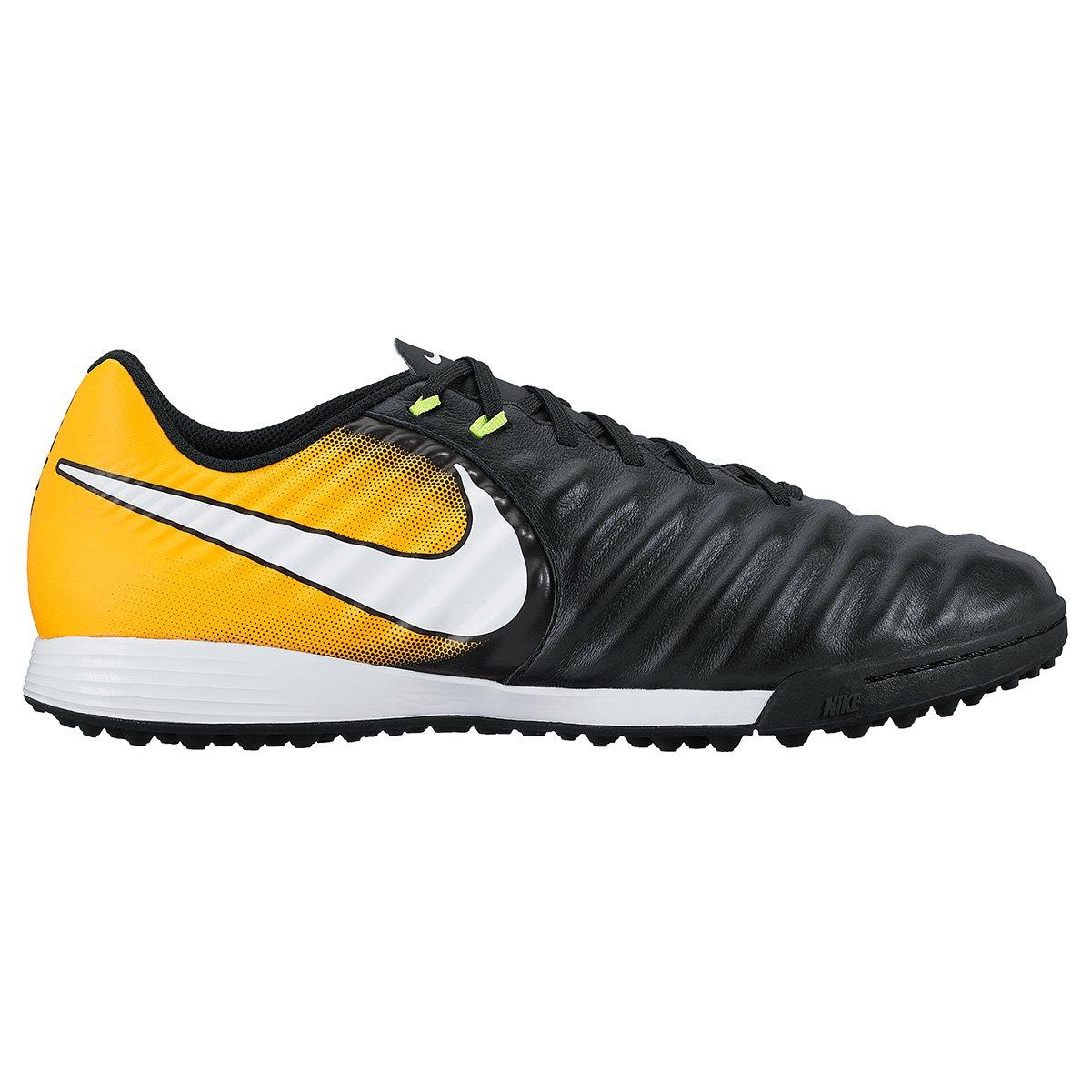 dece6faa4b Chuteira Society Nike Tiempo Ligera 4 TF - Preto e Laranja