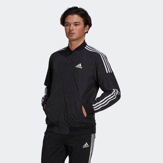 Jaqueta Adidas 3 Listras Bomber Masculina