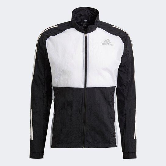Jaqueta Adidas Otr Track Masculina - Preto+Branco