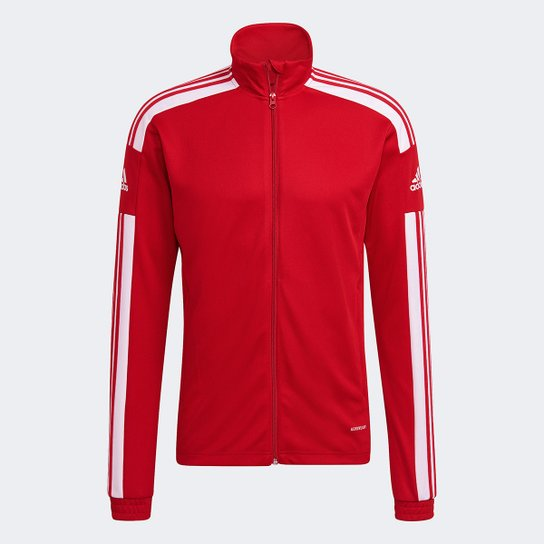 Jaqueta Adidas Squadra Treino 21 Masculina - Vermelho+Branco
