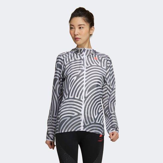 Jaqueta Adidas Tokyo Run Feminina - Branco+Preto