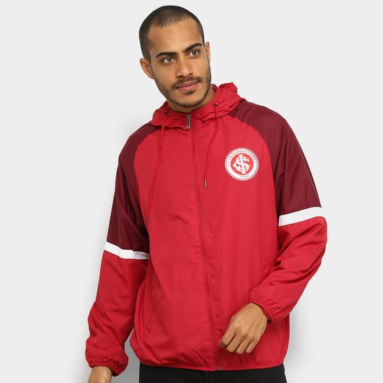 Jaqueta Corta-Vento Internacional Capuz Masculina - Vermelho