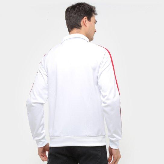 Jaqueta Internacional Retrô Mania Bicolor Masculina - Branco