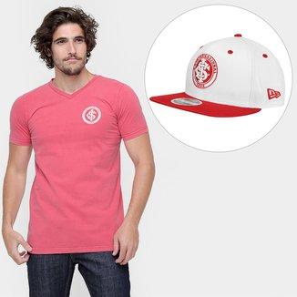 Kit Camiseta Stone + Boné New Era Aba Reta Internacional