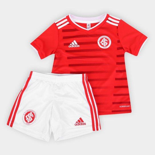 Kit Internacional Infantil I 21/22 s/n° Torcedor Adidas - Vermelho+Branco