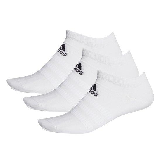 Kit Meia Adidas Soquete Light Low c/ 3 pares - Branco