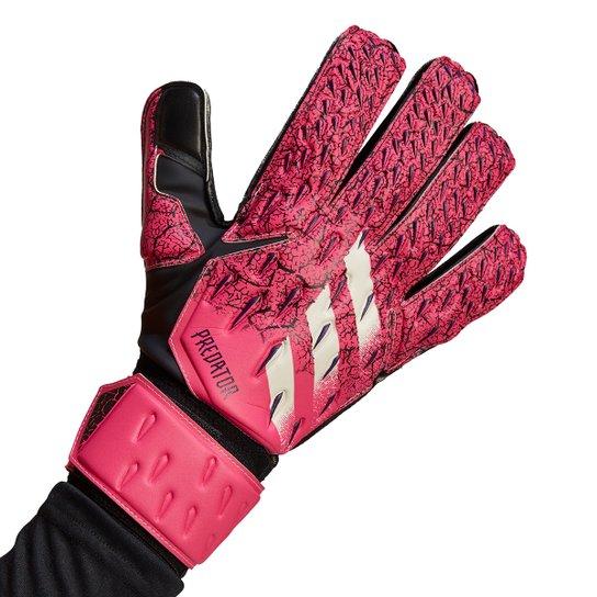 Luva de Goleiro Adidas Predator Match - Rosa+Branco