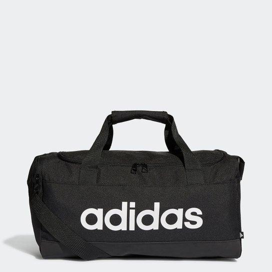 Mala Adidas Duffel Linear 25 Litros - Preto+Branco