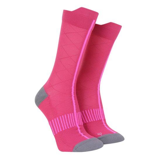 Meia Adidas Cano Alto Estampada - Rosa