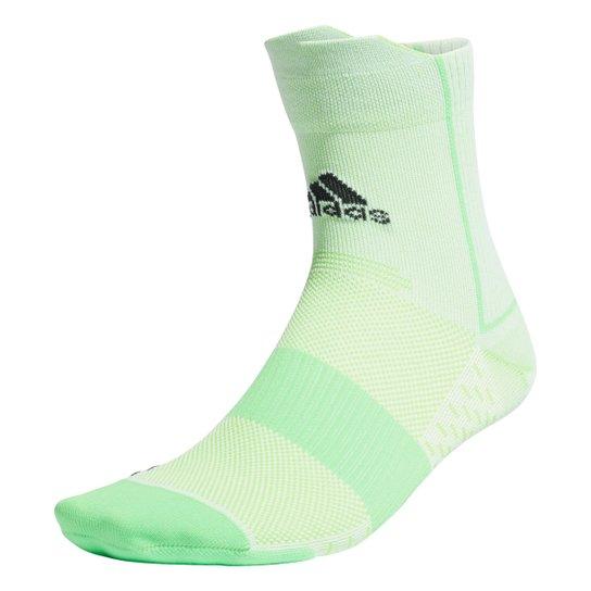 Meia Adidas Cano Baixo Adizero - Verde+Branco