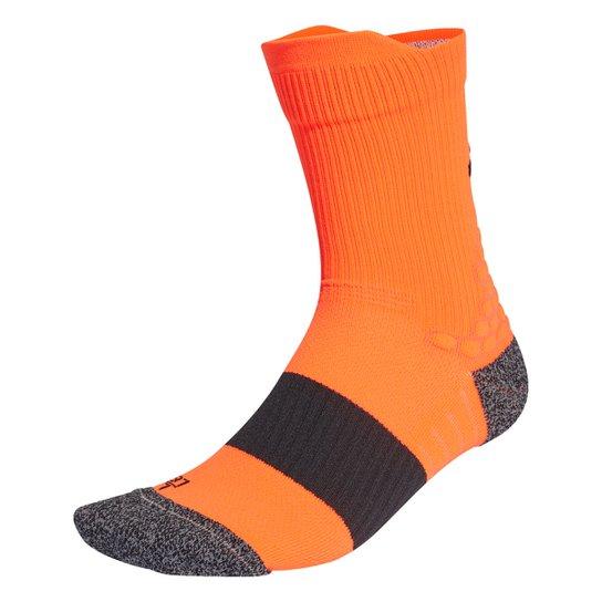 Meia Adidas Cano Médio Ultraboost 21 - Laranja+Preto