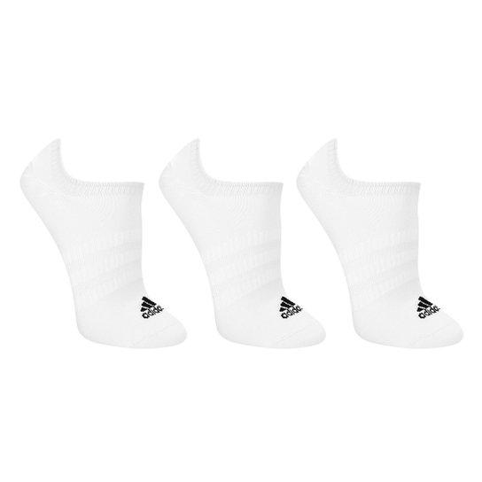 Meia Soquete Adidas Light Nosh c/ 3 Pares - Branco