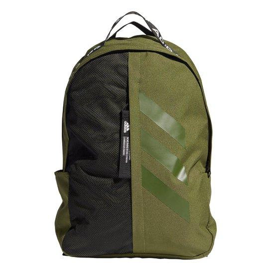 Mochila Adidas Classic Fast 3 Stripes - Verde Militar+Preto