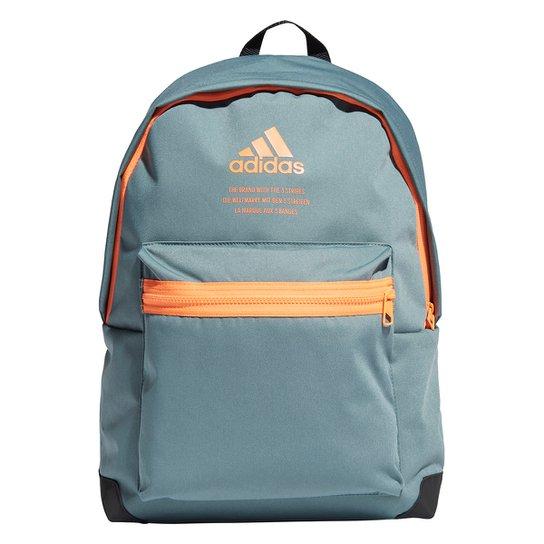 Mochila Adidas Classic Urban - Verde+laranja