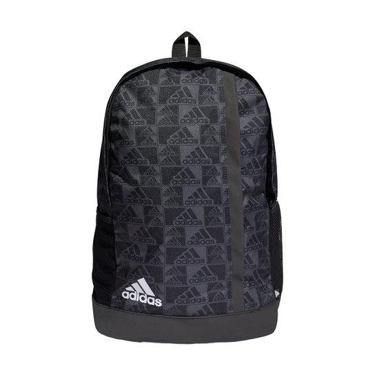 Mochila Adidas Gráfica Primegreen - Preto+Cinza