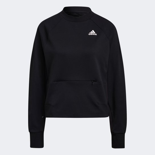 Moletom Adidas Aeroready Feminino - Preto