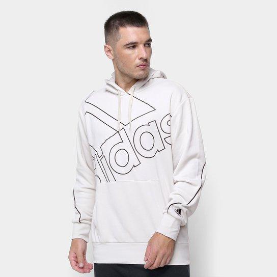 Moletom Adidas Capuz Favourites - Prata+Preto