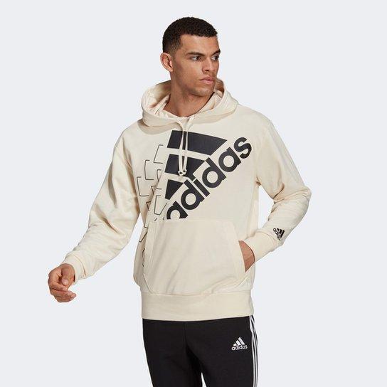Moletom Adidas Essentials Favourites - Off White+Preto