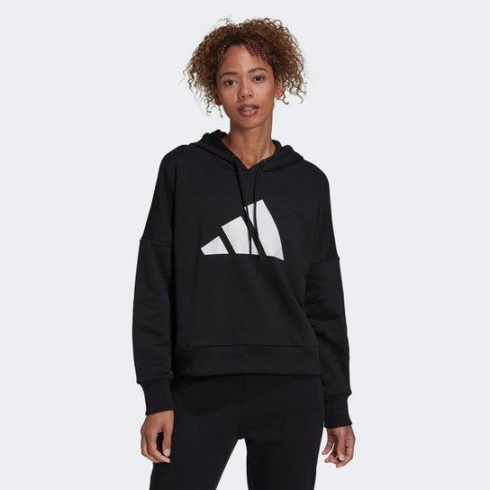 Moletom Adidas Sportswear Future Icon Com Capuz Feminino - Preto