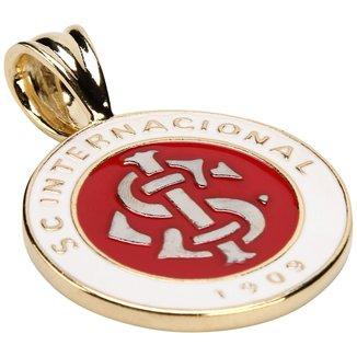 Pingente Medalhão Redondo Internacional Folheado a Ouro