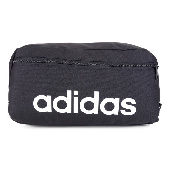 Pochete Adidas Shoulder Bag Essentials Logo Linear - Preto+Branco