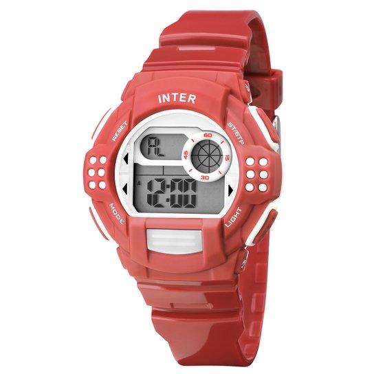 Relógio Internacional Technos Digital III - Vermelho