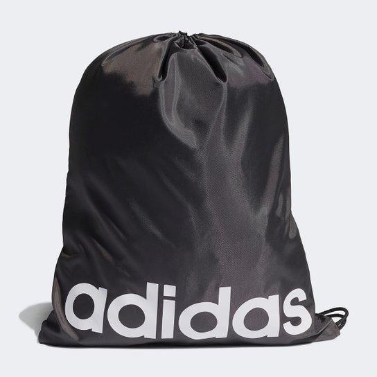 Sacola Adidas Logo Linear - Preto+Branco