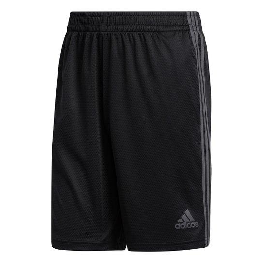 Short Adidas 3S Masculino - Preto+Cinza