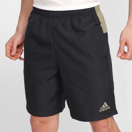 Short Adidas Colorblock Masculino - Preto+Marrom