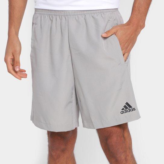 Short Adidas D2M RipsTop Masculino - Cinza