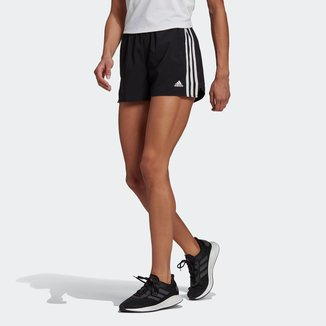 Short Adidas Design To Move 3 Listras Plano Feminino