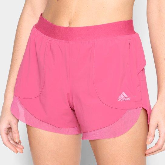Short Adidas Elev Feminino - Rosa
