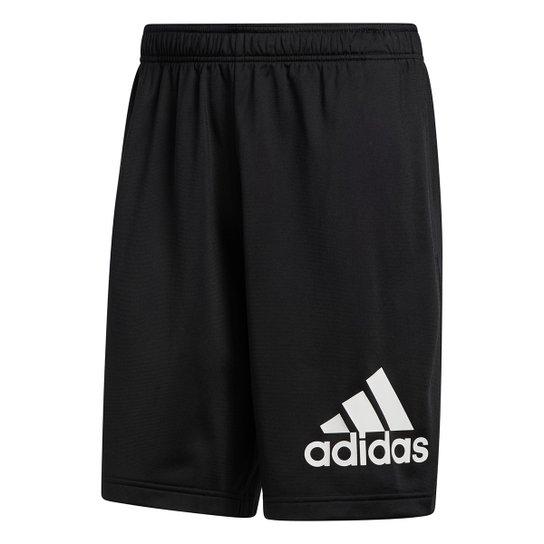 Short Adidas Logo Masculino - Preto+Branco