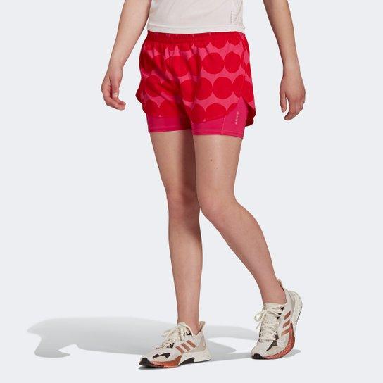 Short Adidas Marimekko Feminino - Vermelho