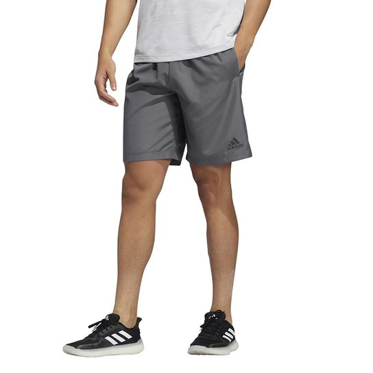 Short Adidas Plain Woven Masculino - Chumbo