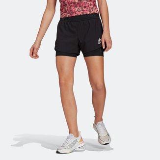 Short Dois Em Um Adidas Primeblue Feminino