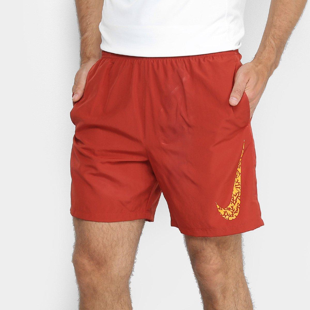 f398633f89 Short Nike Core 7In Gx Masculino - Vermelho e Laranja - Compre Agora ...