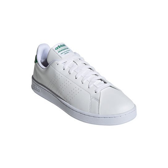 Tênis Adidas Advantage Masculino - Branco+Verde